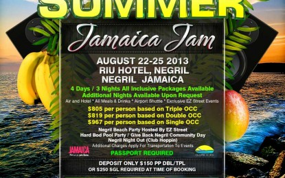 U DOWN???? EZ STREET SUMMER JAMAICA JAM AUG 22-25 2013