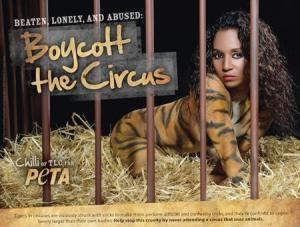 TLC's Chilli Strips To Fight Circus Animal Cruelty In New PETA AD (Video)